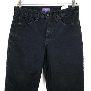 NYJD Straight Leg Black Jeans Size 6